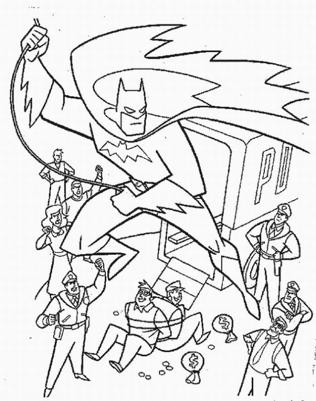 batman coloring pages free kids - Quoteko.com