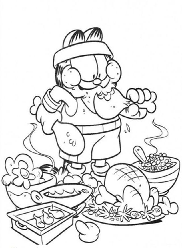 Food to coloring pages ~ Funny Food Coloring Pages - Kidsuki