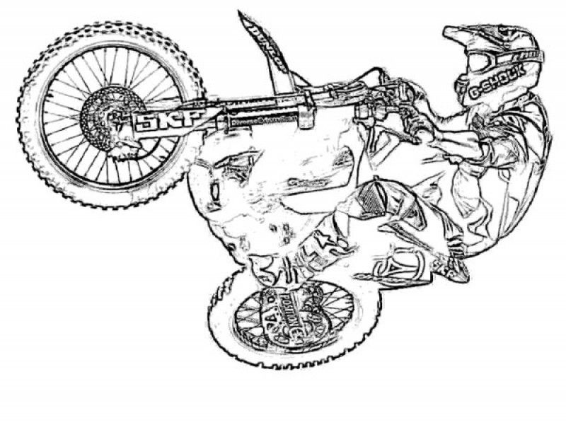 Dirt Bike Coloring Pages - HD Printable Coloring Pages