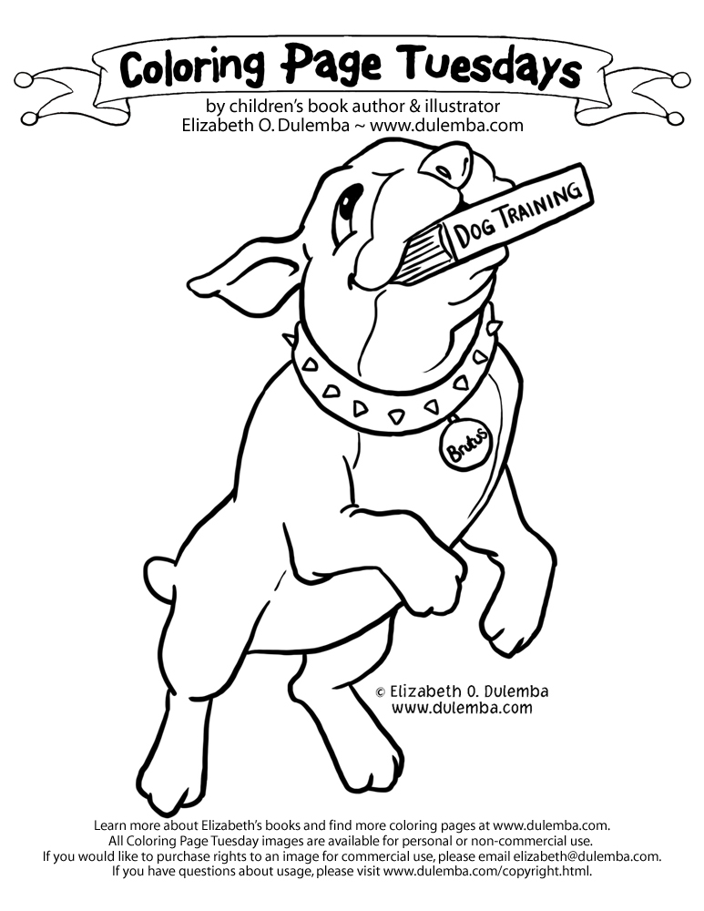 dulemba: Coloring Page Tuesday - Book Lover
