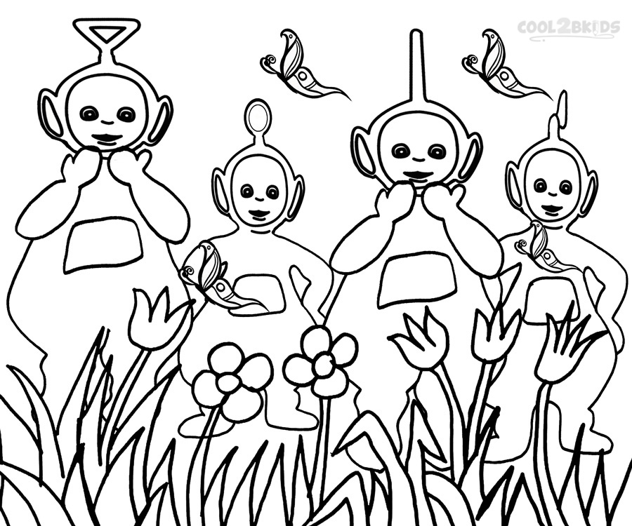 Teletubbies Cartoon AZ Coloring