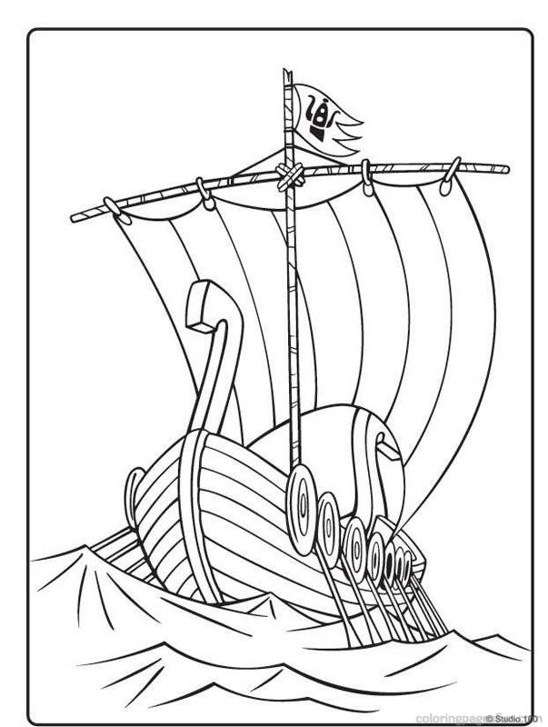 Free Colouring Pages Vikings : Viking Coloring Pages Coloring Home