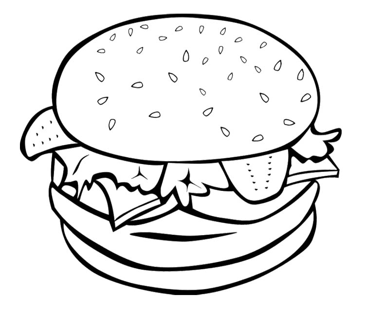 Junk Food Coloring Pages Az Coloring Pages Snack Coloring Pages