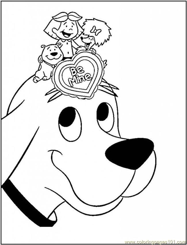 clifford the big red dog coloring pages - coloring home - Clifford Printable Coloring Pages