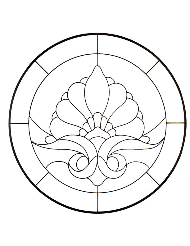 simple stained glass coloring pages - photo#17