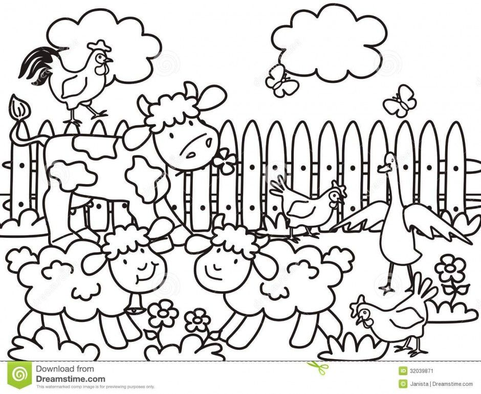 barn coloring pages for kids - photo#36