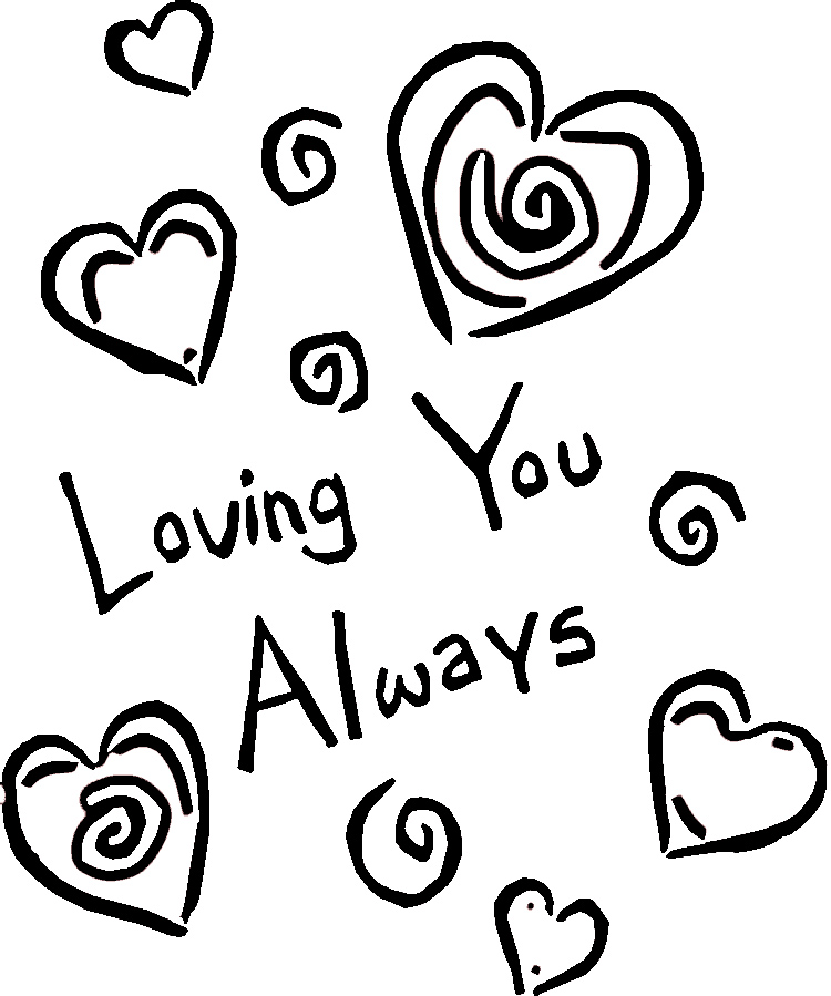 I love you coloring sheets az coloring pages for We love you coloring pages