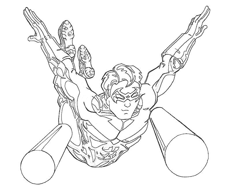 Nightwing Coloring Pages Coloring