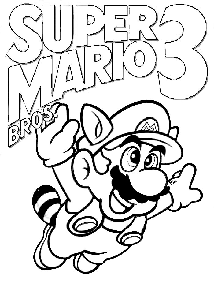 paper mario coloring pages - photo#36