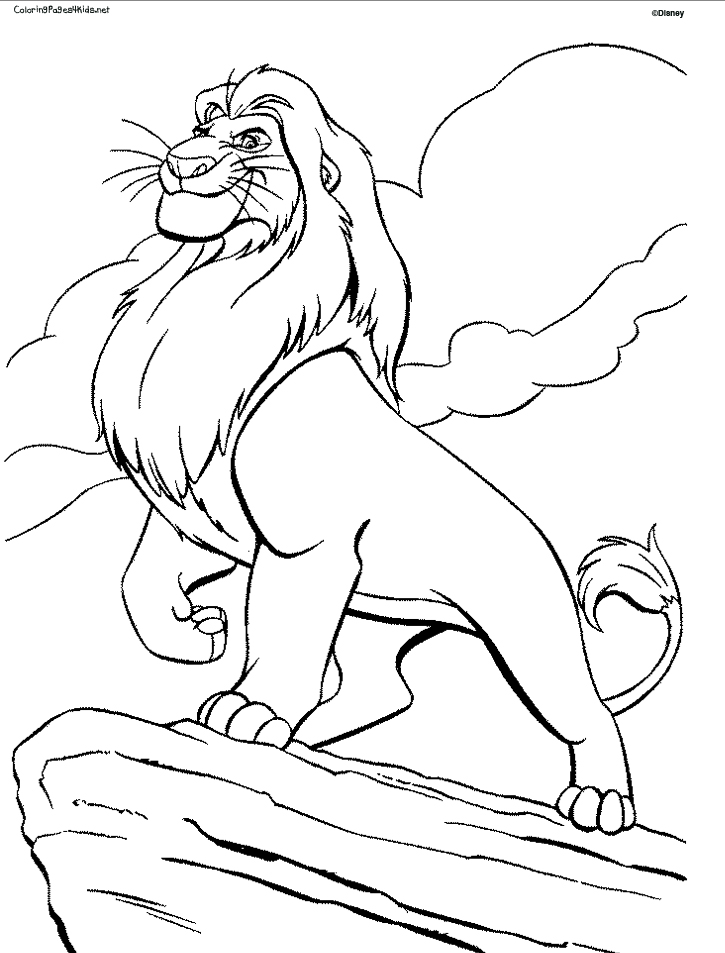 lion king coloring pages - photo#6