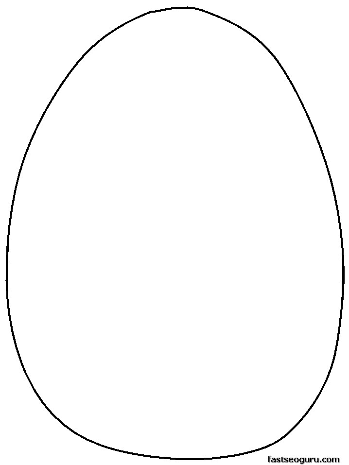 The gallery for full page easter egg template for Easter egg coloring pages printable