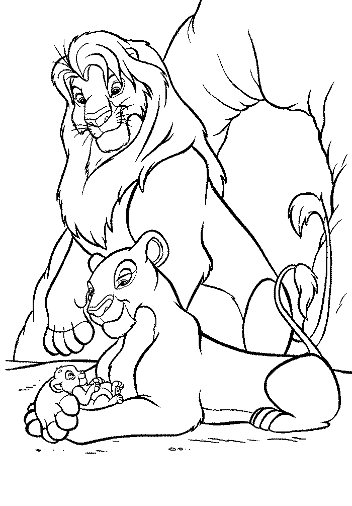 Lion King Printable Coloring Pages Coloring Home