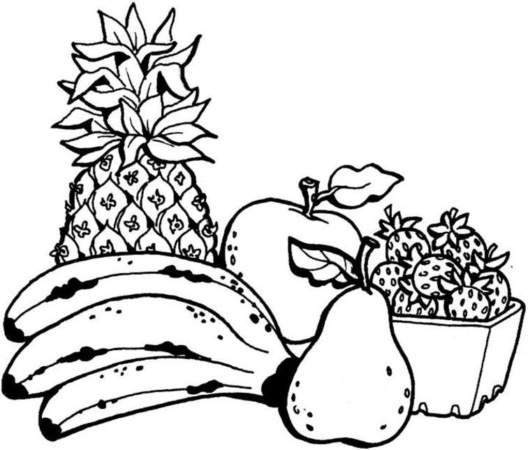 Printable fruit coloring pages coloring home for Printable fruit coloring pages