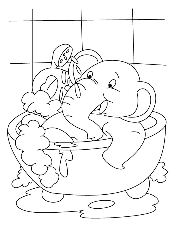 coloring pages of a bath - photo#5