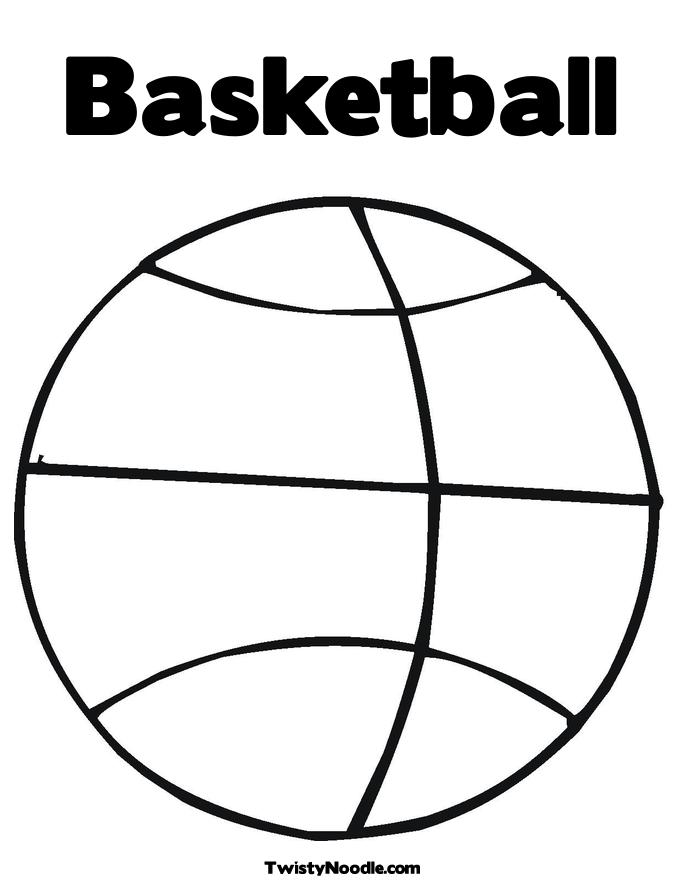 Coloring Pages For Basketball : Printable basketball coloring pages az