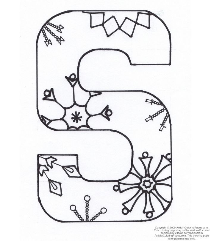 printable letter s kiddy coloring page from freshcoloring popular
