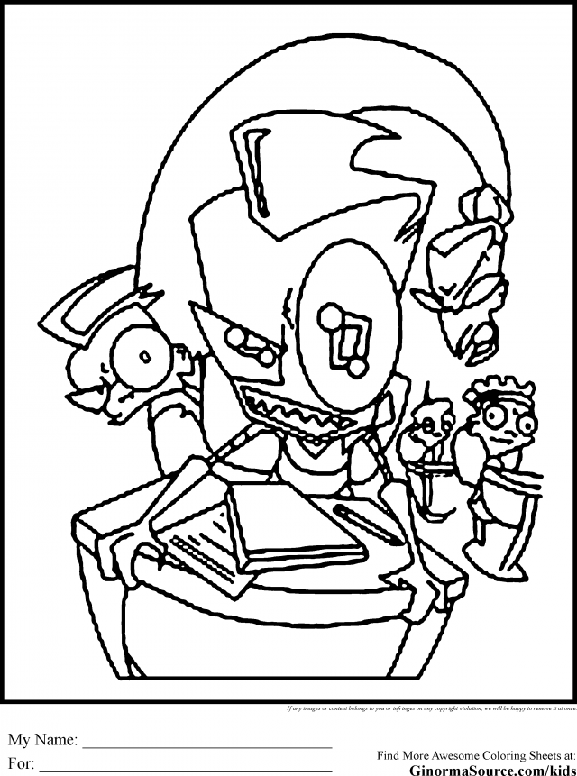 zim coloring pages - photo#13