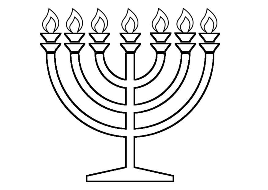 Coloring page menorah - img 22516.