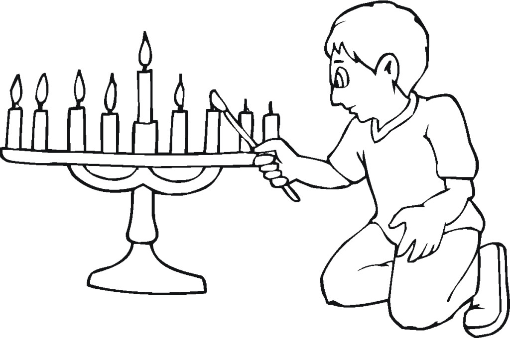 Menorah Coloring Page - Free Coloring Pages For KidsFree Coloring ...