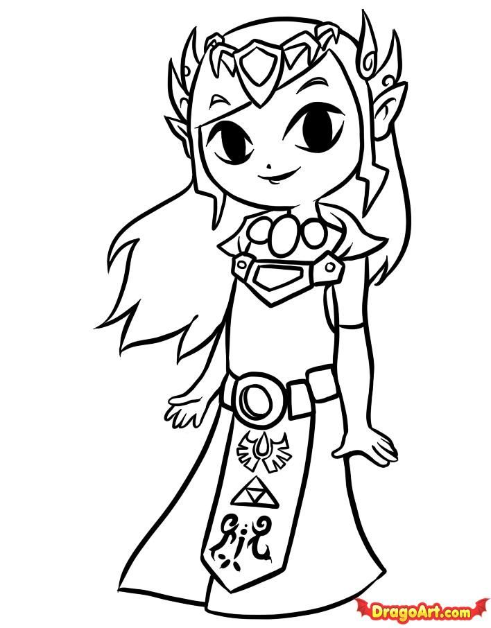 Zelda Coloring Page | coloring pages