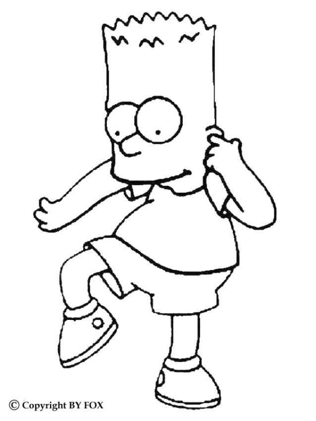 BART coloring pages - Bart doing silly stuff