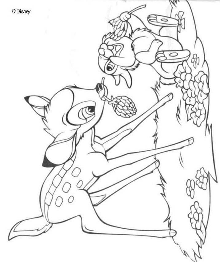 Bambi Coloring Pages Pdf : Bambi coloring pages home