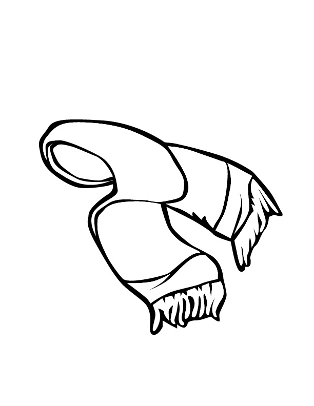 scarf coloring page az coloring pages