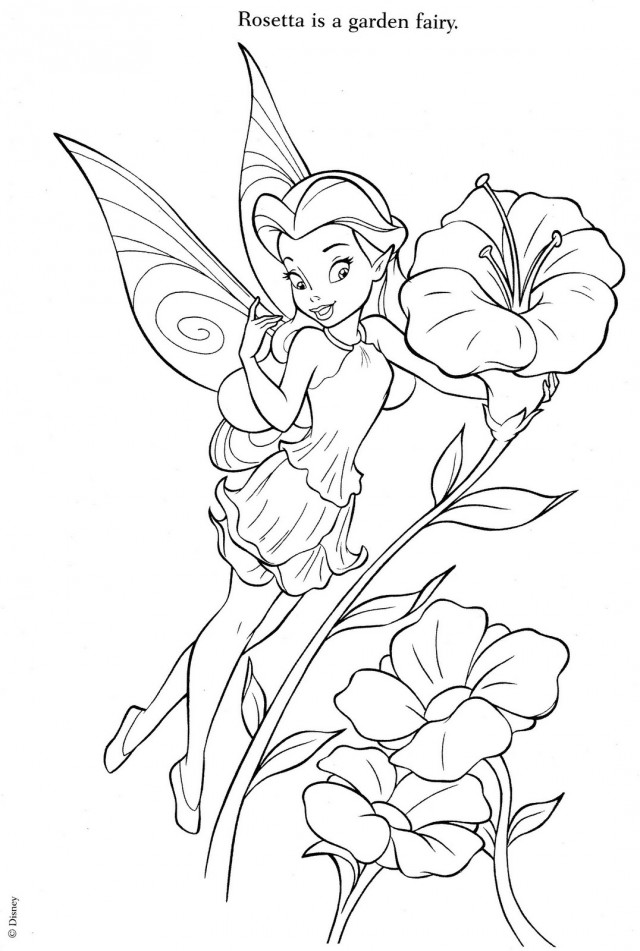 Tinkerbell And Fairy Friends Coloring Pages Az Coloring