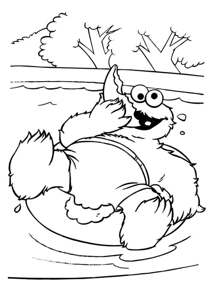 Cookie Monster Printable Coloring