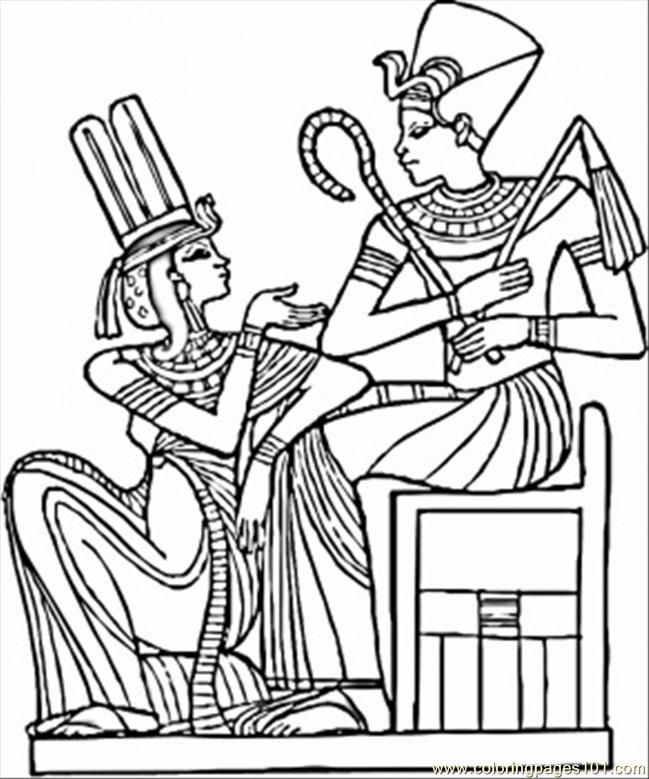Coloring Pages Egyptian Pharaohs (Countries > Egypt) - free