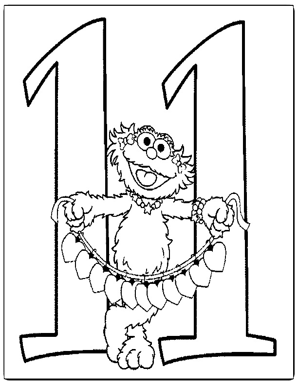 Number 11 Coloring Pages Az Coloring Pages Number 11 Coloring Page