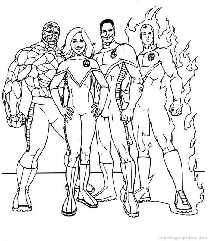 Fantastic Four Coloring Pages 6 | Free Printable Coloring Pages