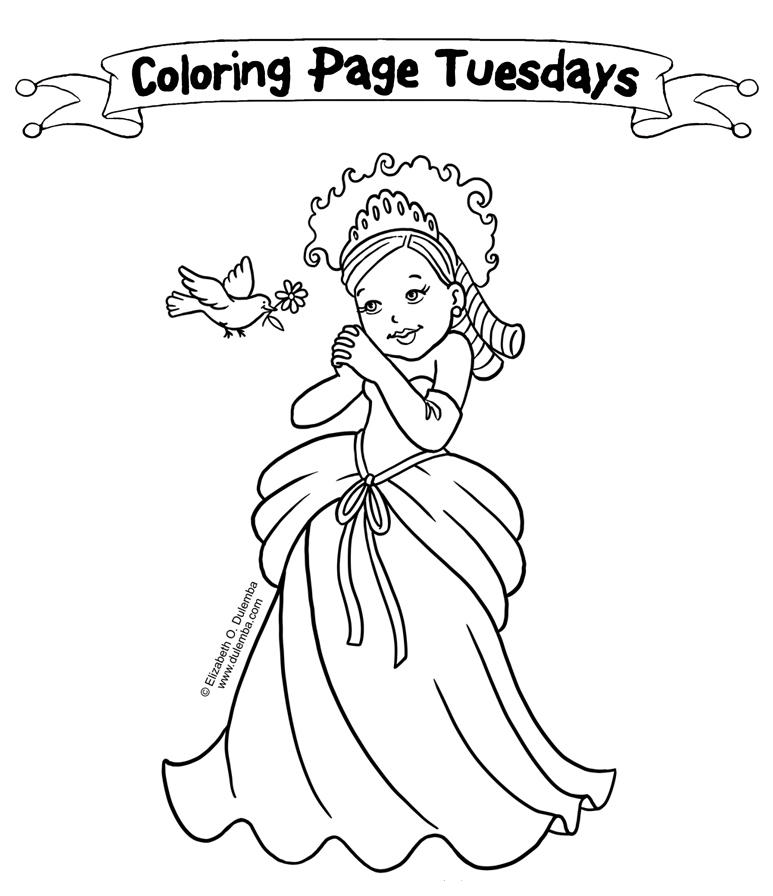 little miss muffet coloring pages-#27