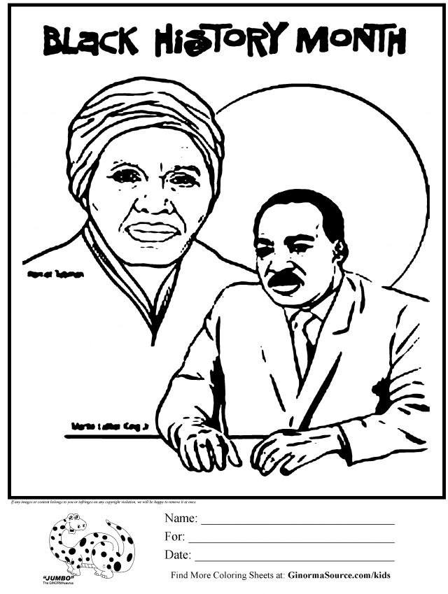 Black History Month Coloring Pages For Kids Coloring Home