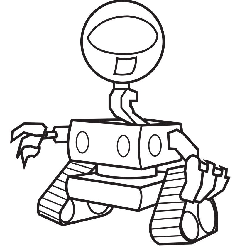 Coloring Pages Robots : Robot coloring pictures home