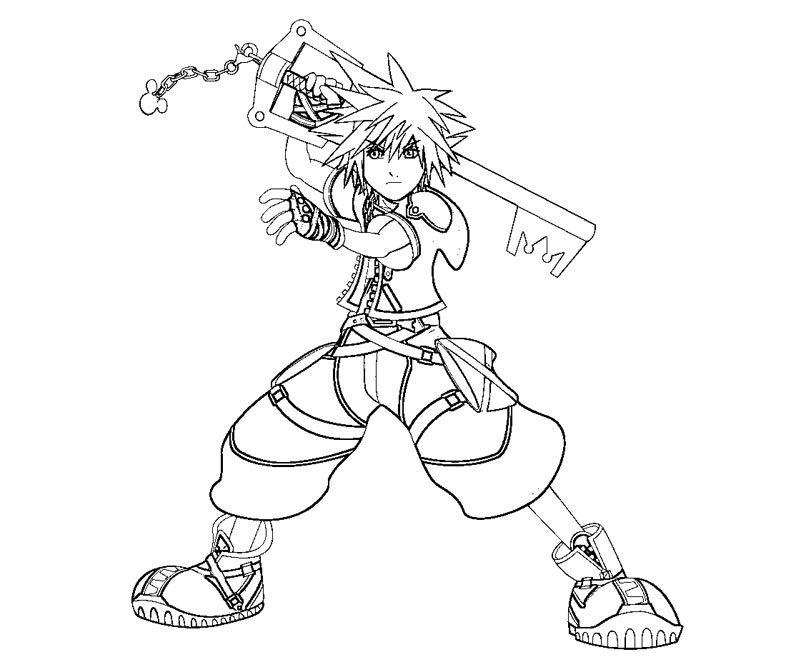 Kingdom Hearts Sora Coloriage - Coloring Home