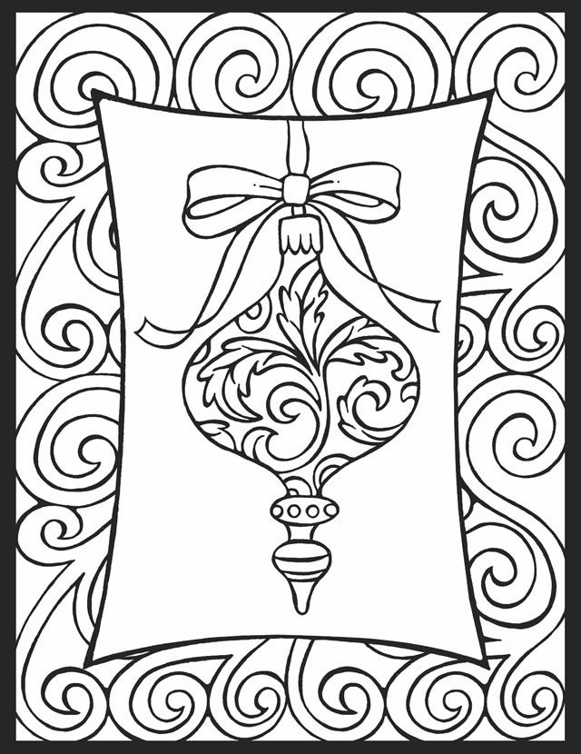 christmas ornament coloring page coloring pages - Coloring Pages Christmas Lights