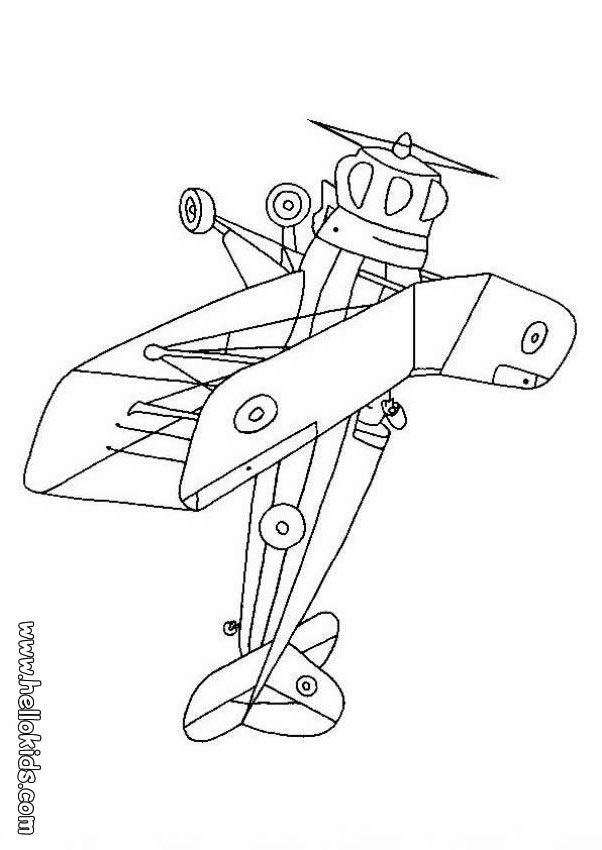 PLANE coloring pages - Biplane