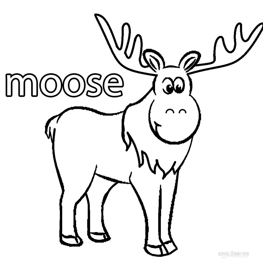 coloring pages manitoba moose - photo#3