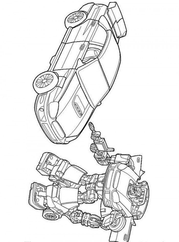 Police Car Transformer Coloring Pages