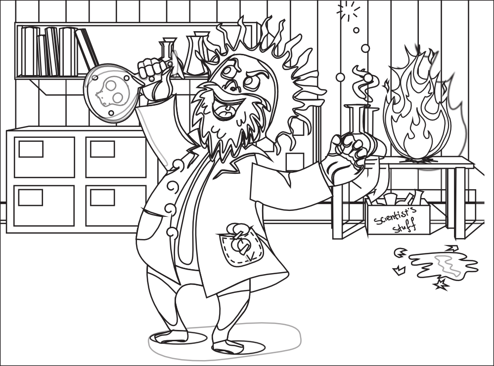 famous scientist coloring pages - photo#4