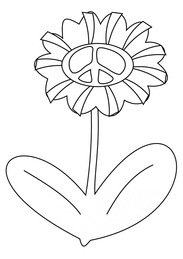 Peace Sign Coloring Page Coloring Home
