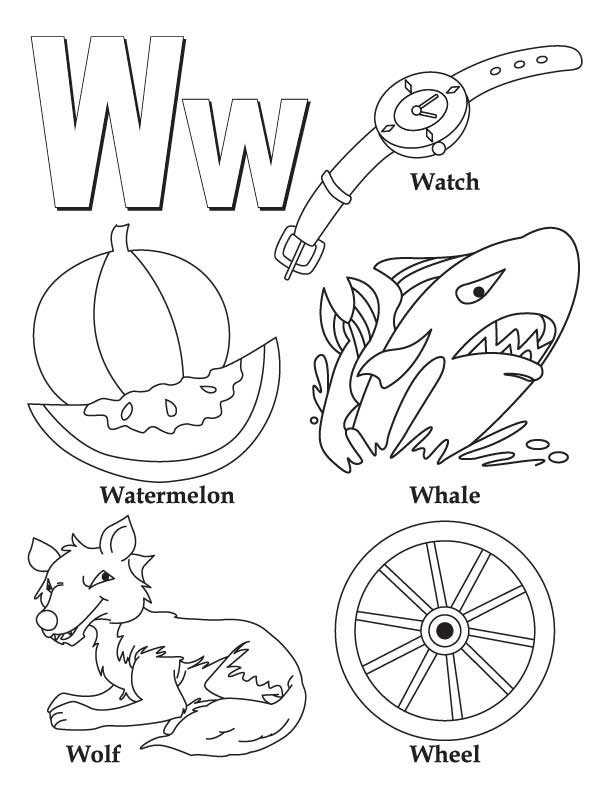 my a to z coloring book letter w coloring page download