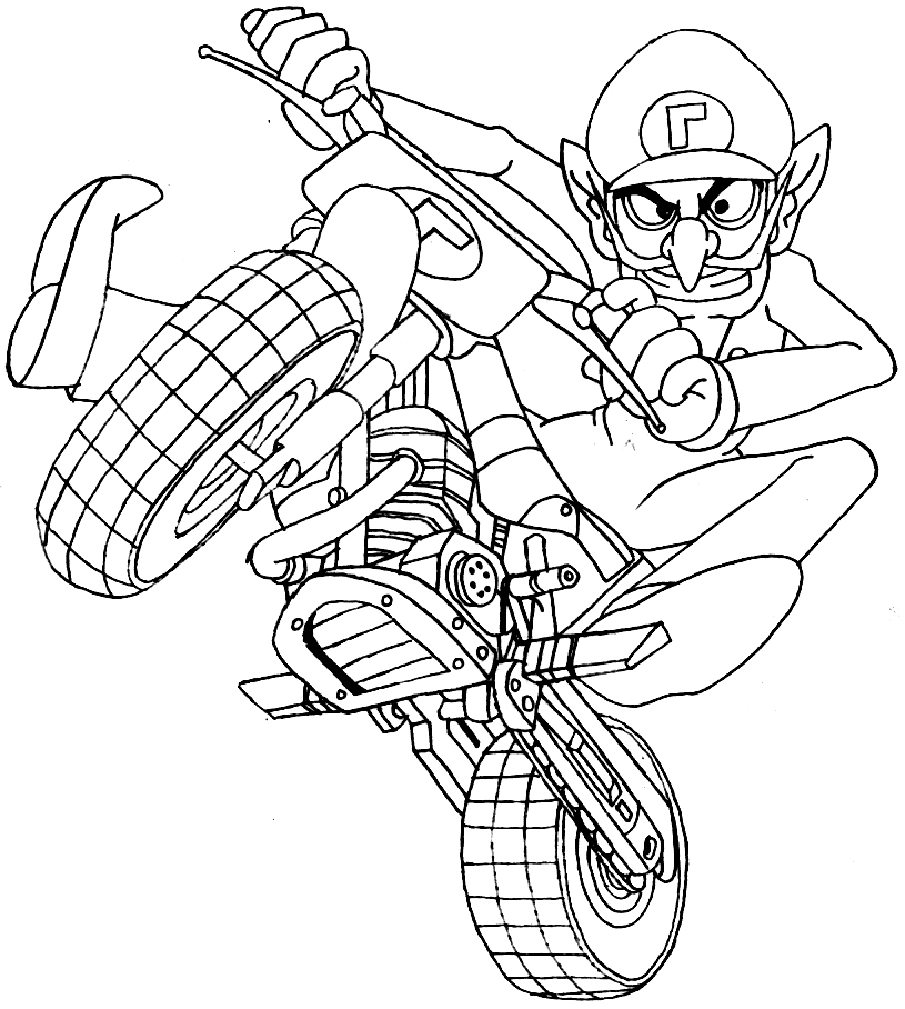 mario cart wii coloring pages - photo#13