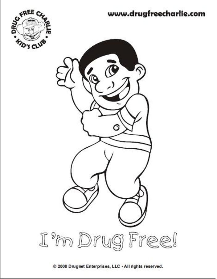 Drug Free Coloring Pages
