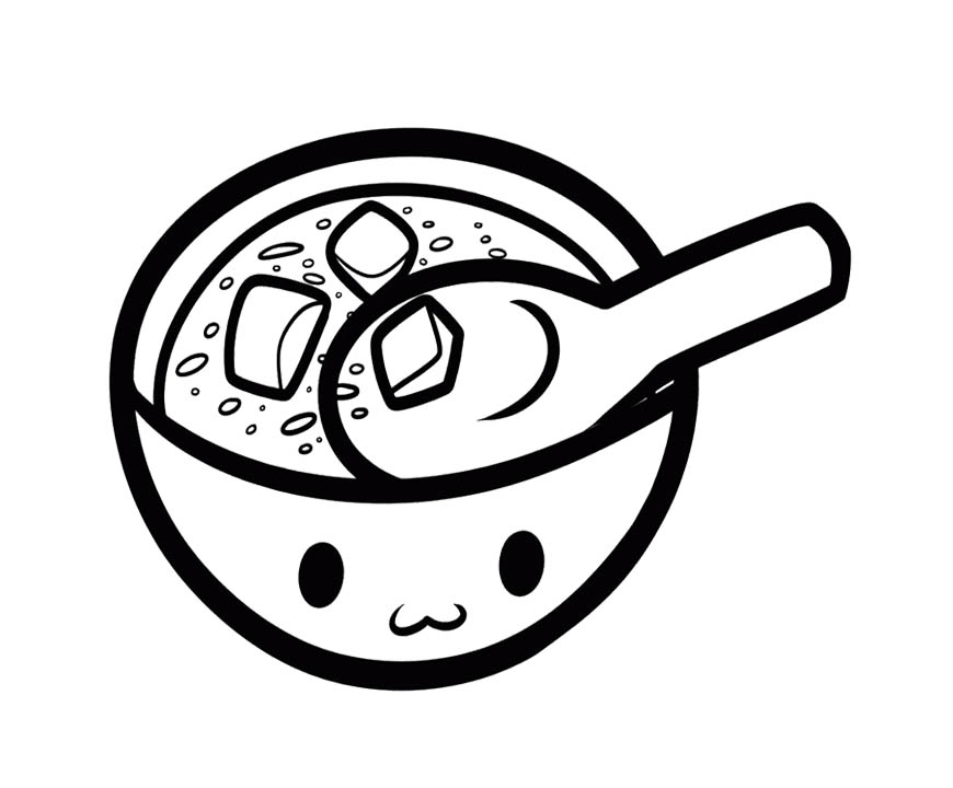 soup can coloring page - soup bowl coloring pages