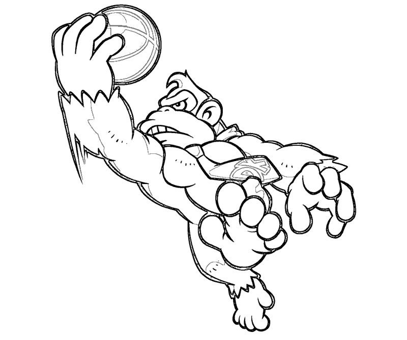 donkey kong coloring pages kids - photo#26