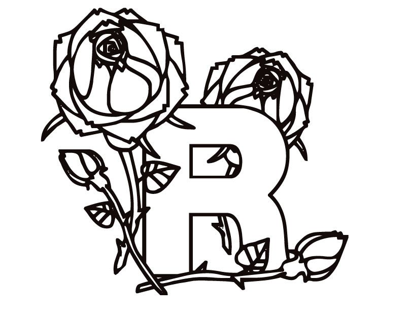 R Is For Ring Coloring Pages R Colouring Pages  page 2