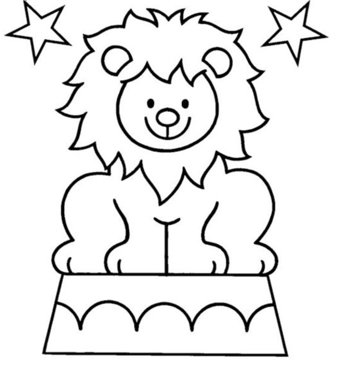 preschool circus coloring pages - photo#27