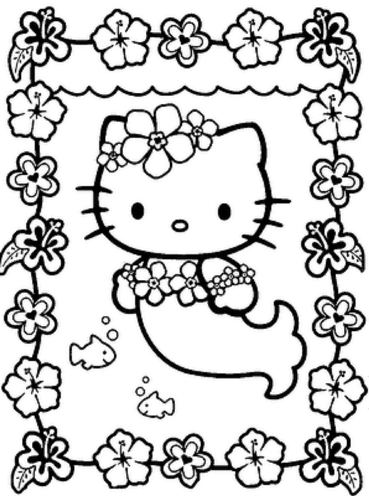 Hello Kitty Rainbow Coloring Pages : Hello kitty cartoon characters az coloring pages